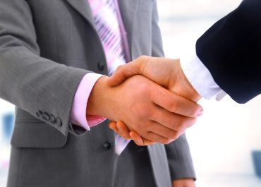 making a business deal - shaking hands