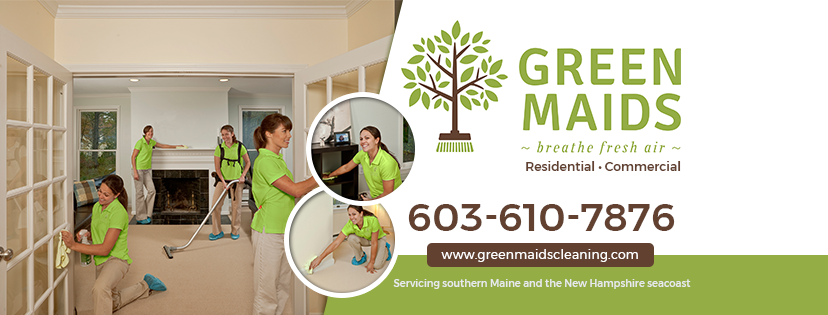 Green maids cleaning banner