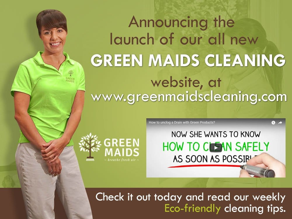 New website announcement for Green Maids Cleaning