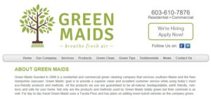 Old Green Maids web design
