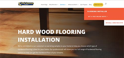 Flooring contractor website
